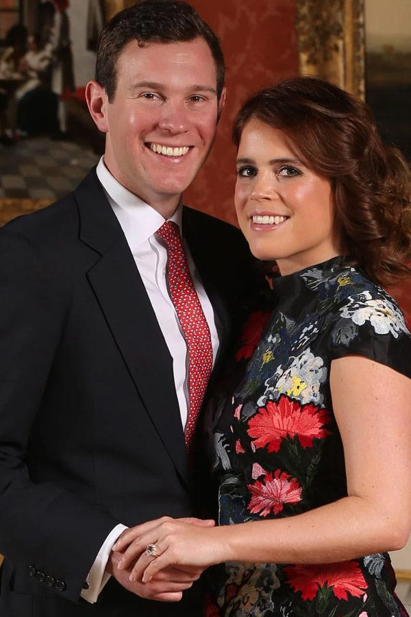 Princess Eugenie wears Erdem in her engagement portrait with Jack Brooksbank.