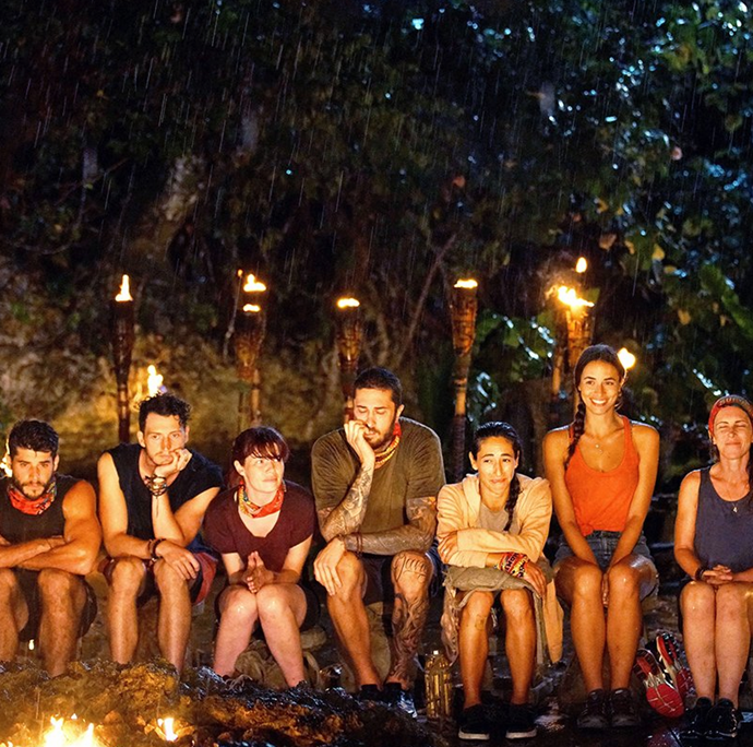 After sitting through this rainy tribal council, Heath was ready to go home.