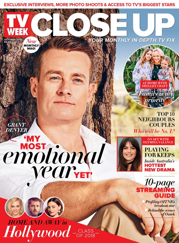 TV WEEK Close Up October issue, on sale Thursday.