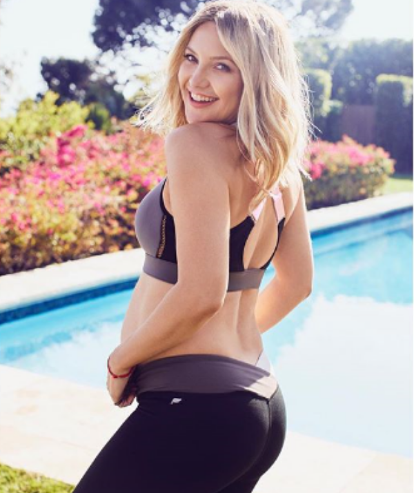 """Looking absolutely glowing, Kate took to Instagram to promote the new bra line from her active-wear brand, Fabletics, writing: """"Bras bras bras!!! We really focused on our bra game for the coming months and I'm crazy excited to finally share them you."""""""