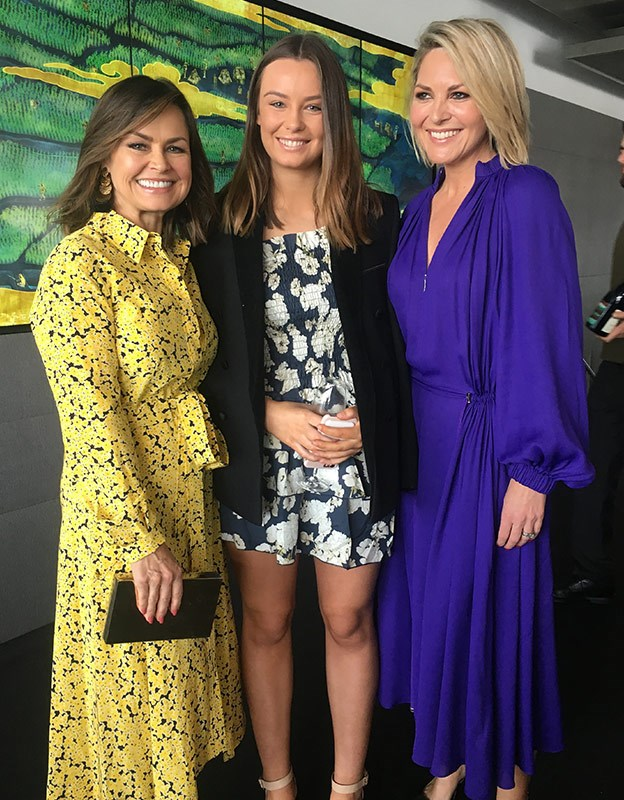 Lisa Wilkinson, Billie Wilkinson and Georgie Gardner together at the 2018 Women of the Future Awards.