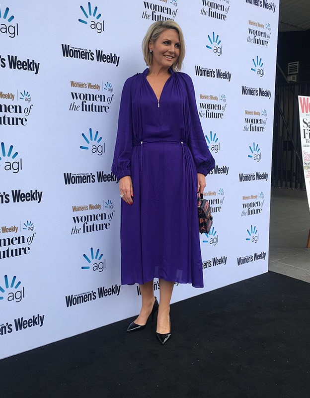 Georgie Gardner arrives at the Women of the Future awards.