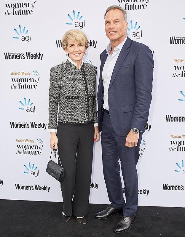 Julie Bishop and her partner David Panton.