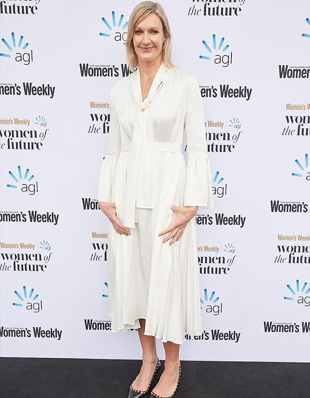 *The Australian Women's Weekly* Editor in Chief Nicole Byers arrives.