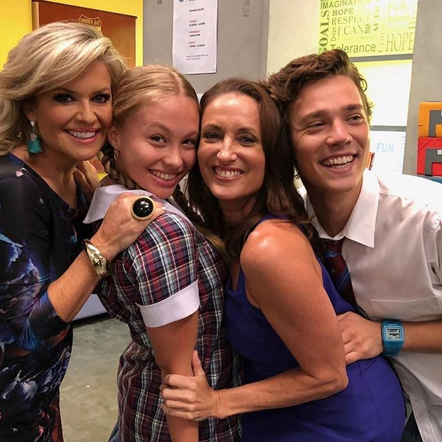 "Olivia pictured with her co-stars Emily Symons, Georgie Parker and Lukas Radovich. Image: Instagram/[@oliviadeeble](https://www.instagram.com/oliviadeeble/|target=""_blank""