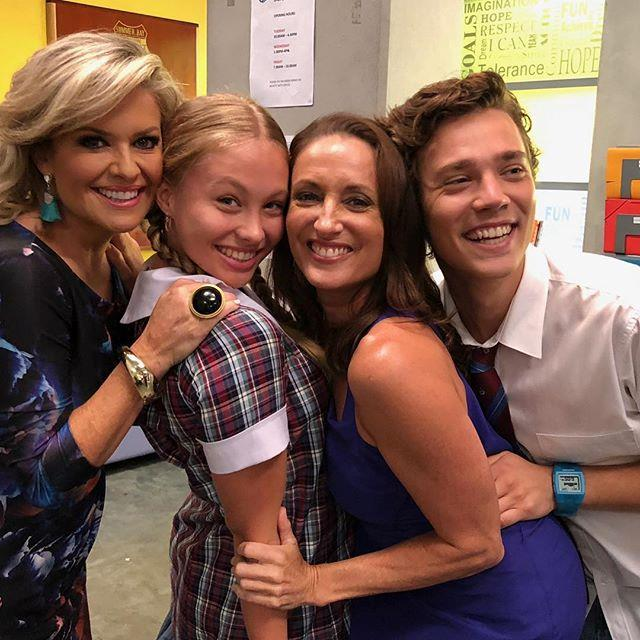 """Olivia pictured with her co-stars Emily Symons, Georgie Parker and Lukas Radovich. Image: Instagram/[@oliviadeeble](https://www.instagram.com/oliviadeeble/