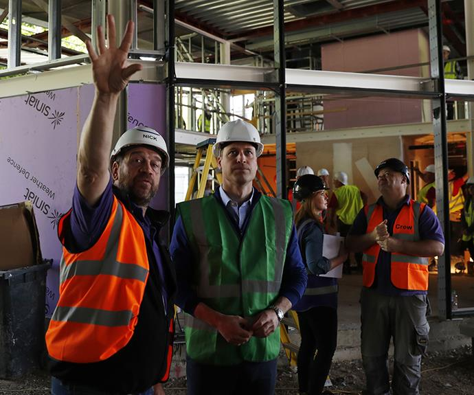 This was Prince William's second stint on the BBC series *DIYSOS*.