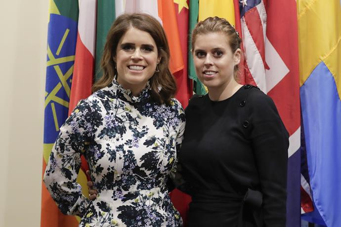 Princess Eugenie and Princess Beatrice at the United Nations. The sisters are both active in working with charities.