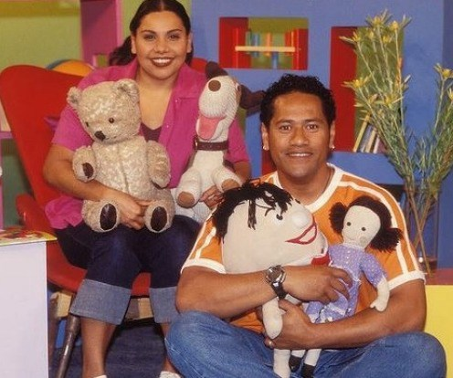 """Deborah Mailman presented on *Play School* from 1998-2001, since then she's had a successful career as an actress of the stage and screen, most recently in new Aussie TV series, *Bite Club*.  Jay Laga'aia is an Aussie/New Zealand presenter who started on the series in 2000. Currently still a cast member, he also had the privilege of singing the newest version of the popular theme song """"There's a Bear in There"""" (2011) with Justine Clarke. He now has eight children."""