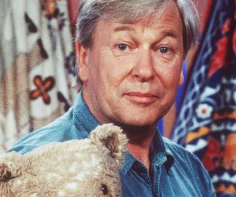 John Hamblin, enjoyed a 29-year stint on *Play School*. The cheeky brit was a favourite among kids and their parents, with the second-longest run on the show. In 2008 he wrote a memoir about his life.