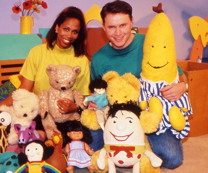 """British expat Trisha Goddard was part of the """"hay-day"""" of *Play School* presenters from 1987-1998. After finishing with the show, she had her own talk-show *Trisha*, which ran from 1998 to 2010.  Colin Buchanan was another favourite in the earlier days of *Play School*. He presented on the show from 1993-1999. Colin has won nine Golden Guitar Country music awards and is a singer-songwriter."""