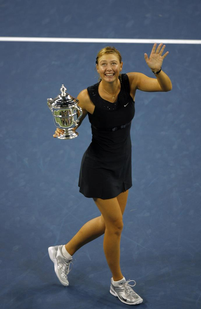 **Maria Sharapova, US Open 2006** <br><br> Coco Chanel introduced the concept of the 'little black dress' in the 1920s, but it wasn't until 2006 that the design was truly embraced on the tennis court. The look was definitely a winner - Sharapova took out the Championship.