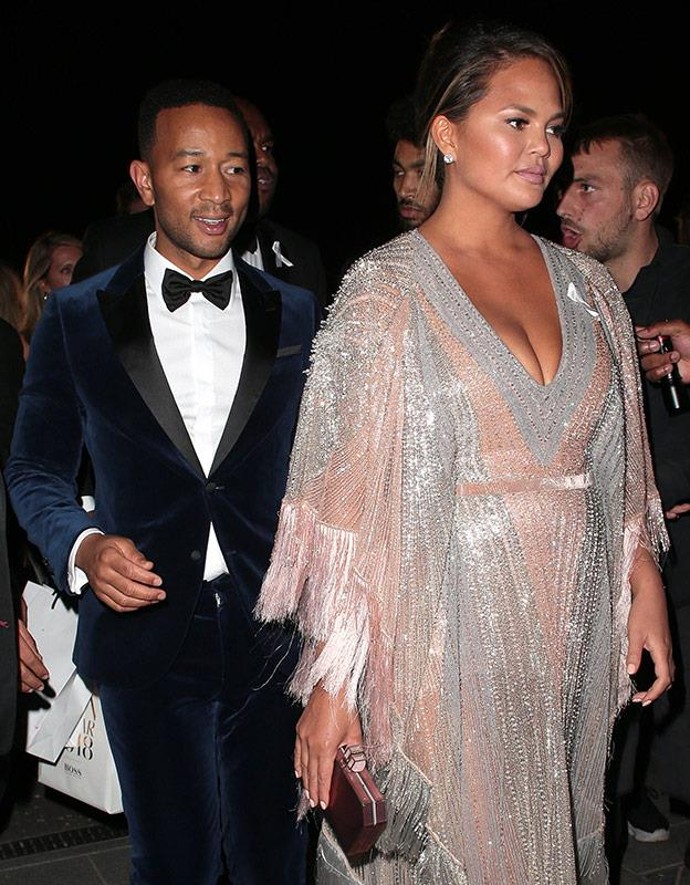 Hollywood is represented with Chrissy Teigen and John Legend.