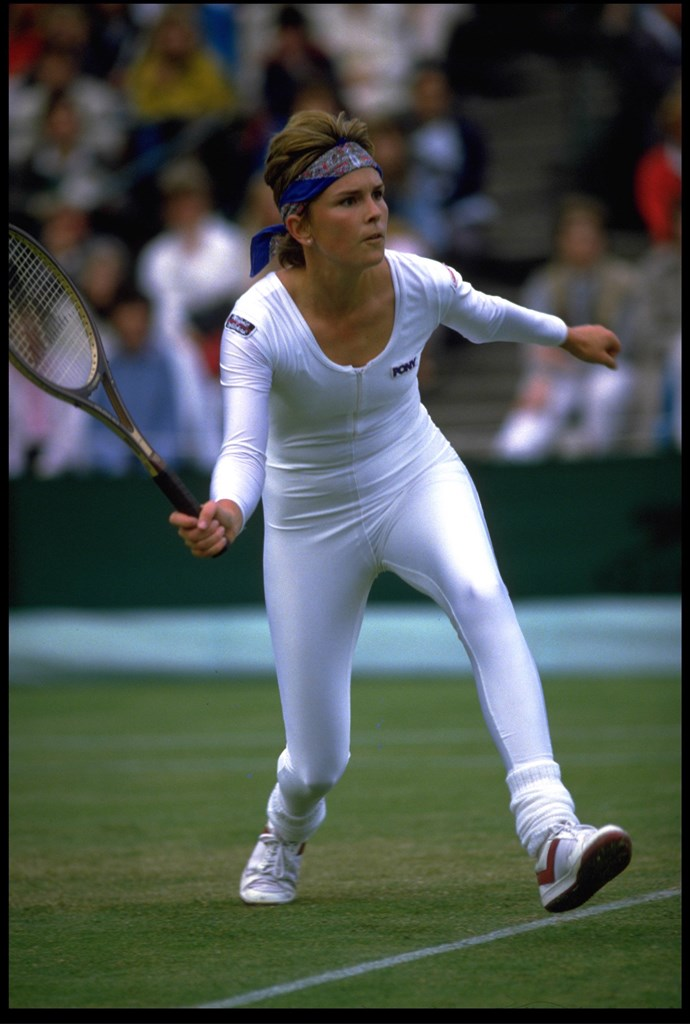 **Anne White, Wimbledon 1985** <br><br> Before Serena, Anne White tested the waters by wearing an all-white cat suit to Wimbledon. Not surprisingly, it left a strong impression, with White's opponent Pam Shriver complaining about the outfit to tournament officials after she lost the match.