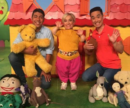 Brand new *Play School* presenters Hunter Page-Lochard, Kiruna Stamell and Kaeng Chan.