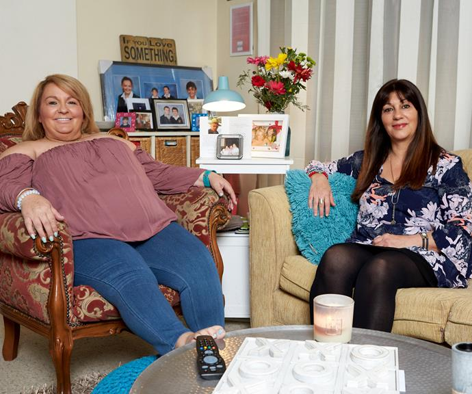 """**Anastasia and Faye**  Anastasia and Faye are two of Gogglebox's most popular cast members. The pair met at a Melbourne nightclub, and Faye often jokes that her friend was trying to """"pick her up"""".  Anastasia is a real estate agent and single mum and Faye, a senior legal assistant.  Both women are of Greek descent, so you can often find them with delicious treats, tea and hysterically calling out everyone on National television.  **Instagram:** @anastasia_and_faye"""