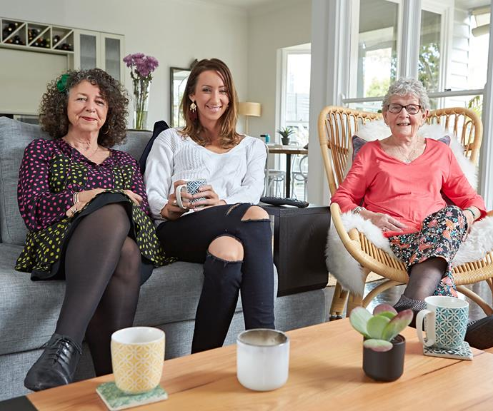 """**The Silberys**  Three generations of [Silbery women](https://www.nowtolove.com.au/celebrity/tv/gogglebox-isabelle-silbery-cancer-polyps-53591
