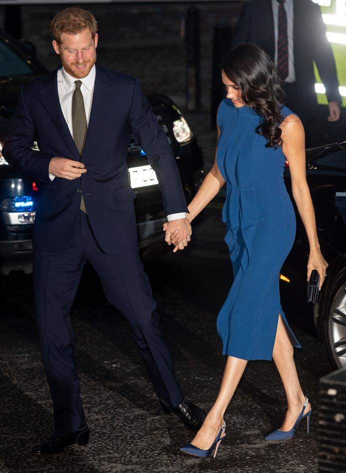Prince Harry and Duchess Meghan step out for a gala concert named 100 Days to Peace.