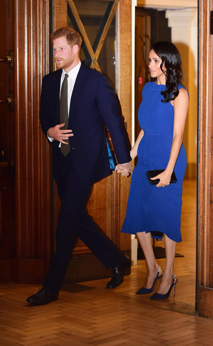 The royal couple looked classy as ever for the gala event.