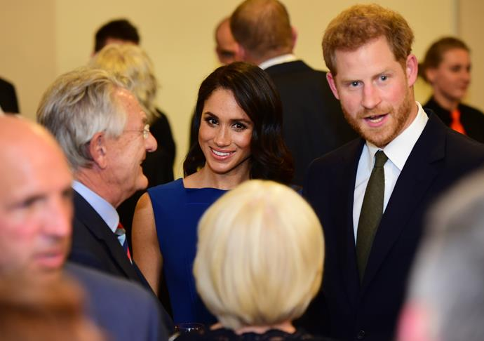 Harry and Meghan mingled with guests throughout the evening.