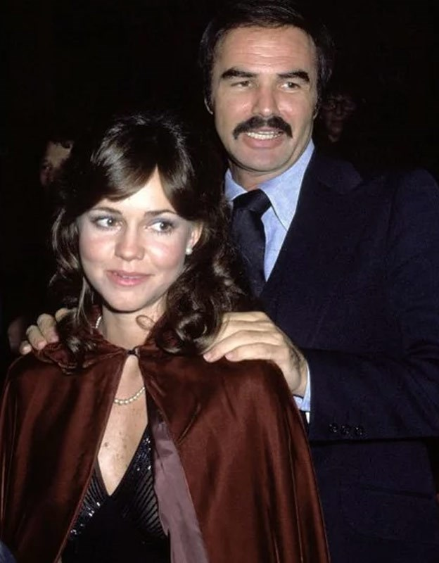 Burt and Sally dated for nearly five years after meeting on the set of their 1977 film *Smokey and the Bandit*.