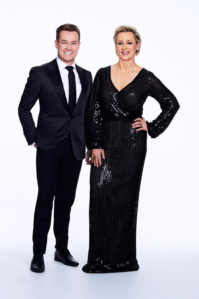 Grant Denyer and Amanda Keller take on hosting duties.