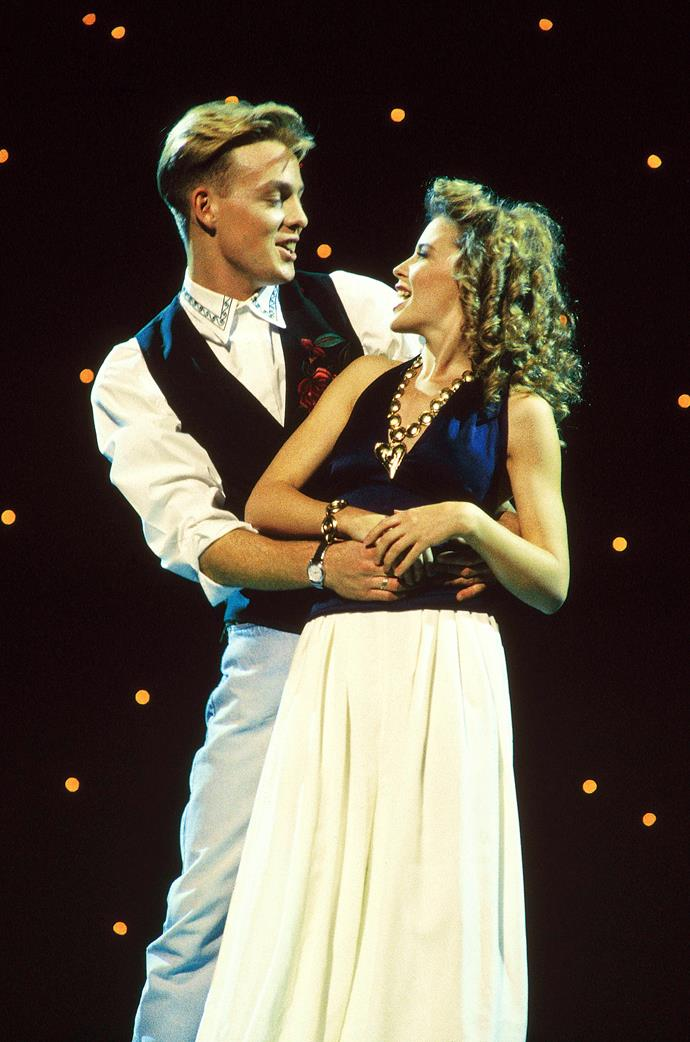 Kylie Minogue and Jason Donovan were an iconic coupling in the 1980s.