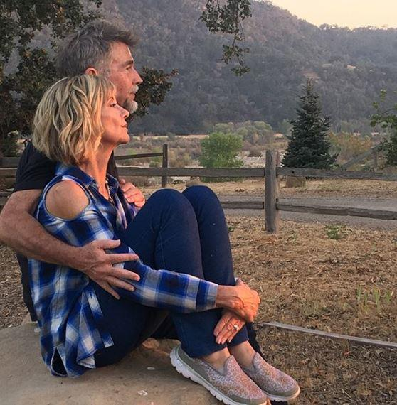 Olivia with her husband, John Easterling, at their beloved Californian ranch.