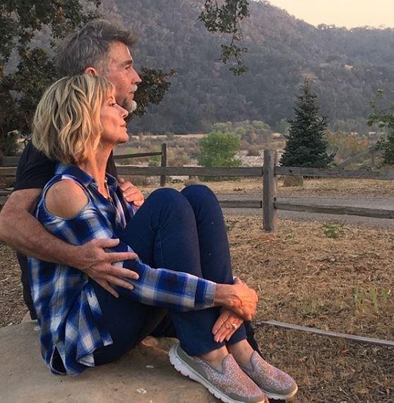 Olivia with her husband, John Easterling, at their Santa Barbara ranch.