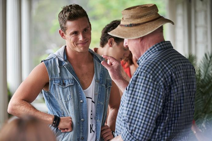 Scott cherishes his final scenes with *Home and Away* veteran Ray.