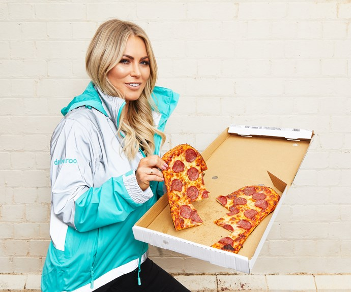 Keira has teamed up with *Deliveroo* to deliver the *Heartbreak* pizza.