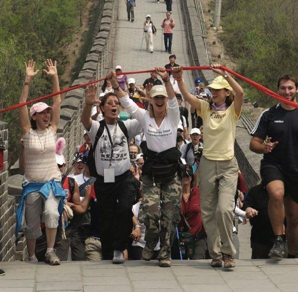 Olivia trekked the Great Wall of China in 2008 to raise funds for cancer research.