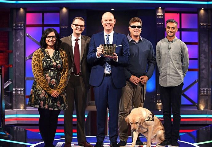 Kate, Ross, David and Kogu want that Big Brass Mug.