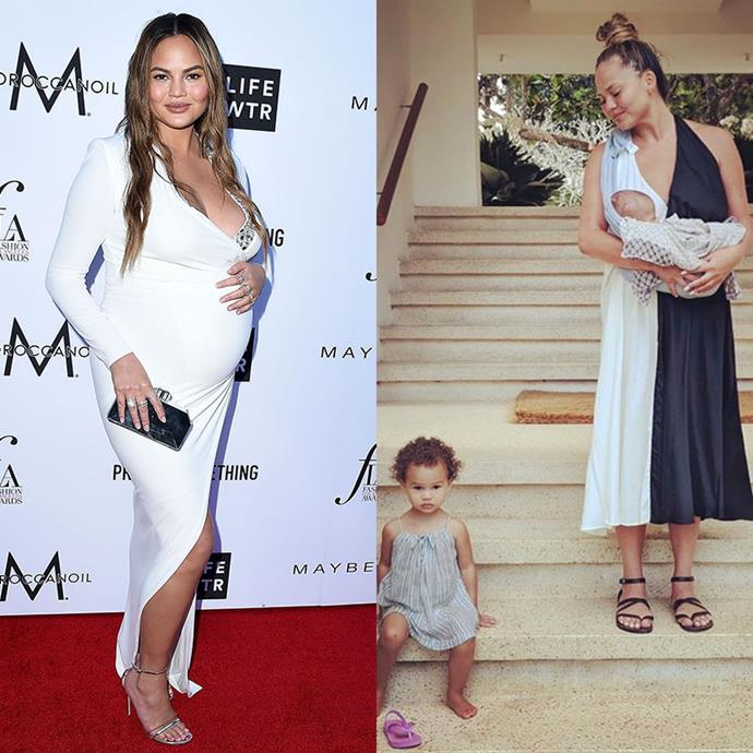 "**Chrissy Teigen, model and author** <br><br> This mum-of-two holds nothing back when it comes to motherhood. She often shares her experiences via Instagram, bringing important issues to light.  <br><br> In an interview with *[Parents.com](https://www.parents.com/parenting/celebrity-parents/moms-dads/learn-how-to-deal-with-mom-shamers-from-the-clap-back-queen/|target=""_blank""