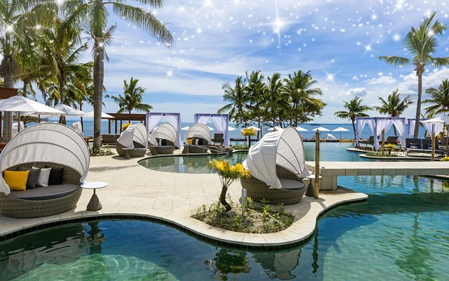 Waitui Beach Club in Fiji is boldly child-free.