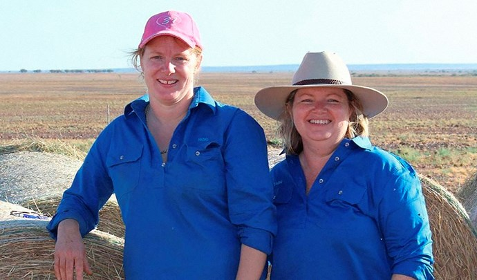 Drought Angels, founded by Nicki and Tash, helps with feed, cash, vouchers and referrals as well as 24-hour Rural Days Off respite and community events.  Image: Edwina Robertson