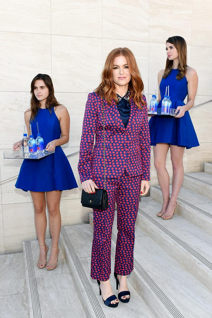 **Isla Fisher** <br><br> This Aussie actress and mum-of-three loves a pop of colour, and her look for The Hollywood Reporter's 26th Annual Women In Entertainment Breakfast did not disappoint.