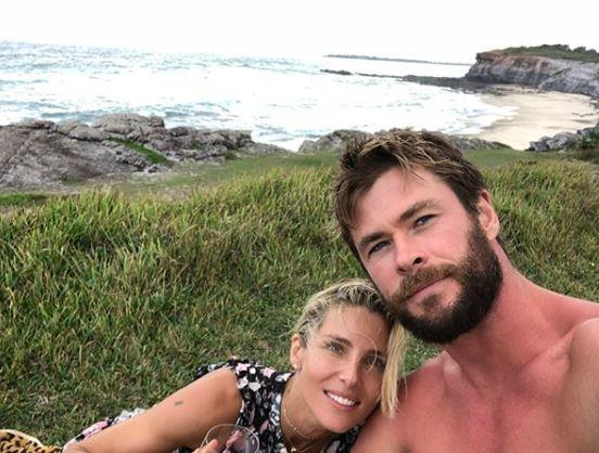 It runs in the family: Chris Hemsworth looks superb with a bit of scruff.