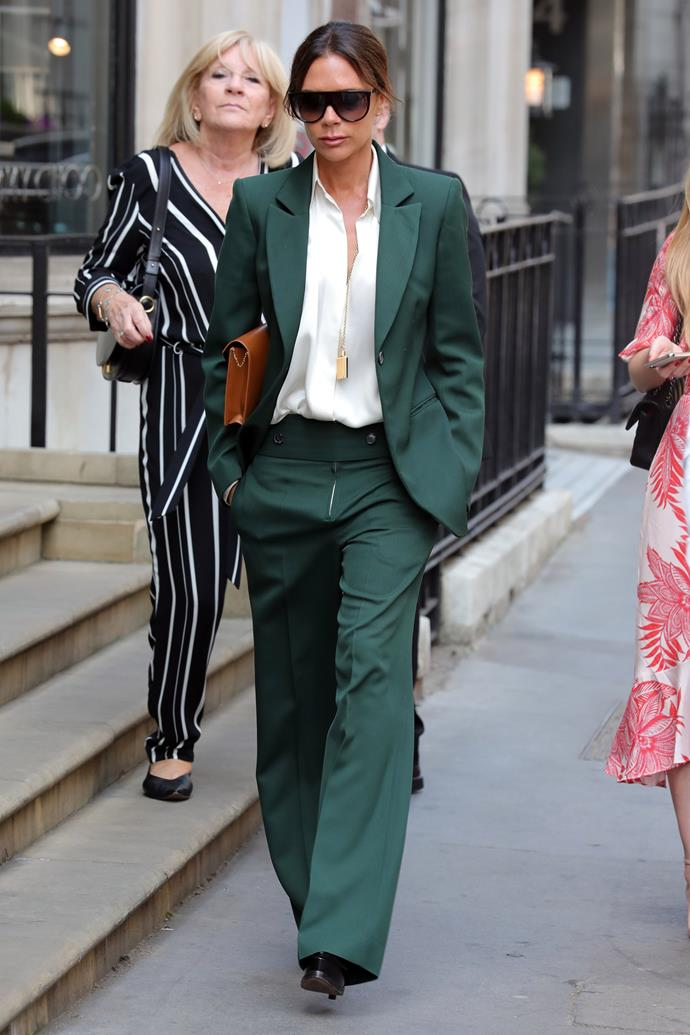 **Victoria Beckham** <br><br> She oozes class wherever she goes. The former Spice Girl and fashion designer has four kids. Harper will have plenty to borrow from her mum's wardrobe!
