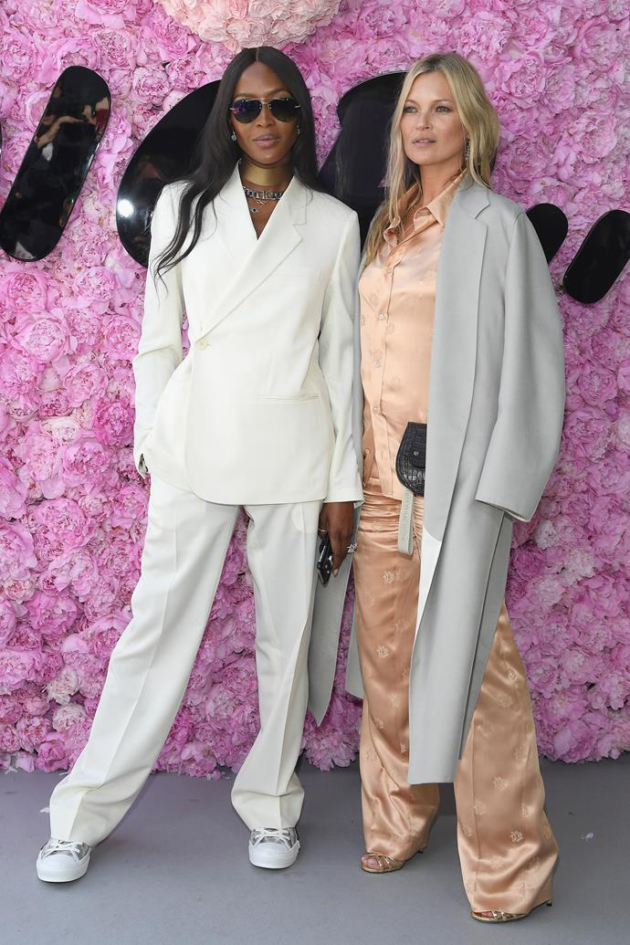 **Kate Moss**  <br><br> If Kate and long time pal Naomi Campbell are wearing it, it must be on-trend. Kate, a mum of one, makes the pantsuit look easy.
