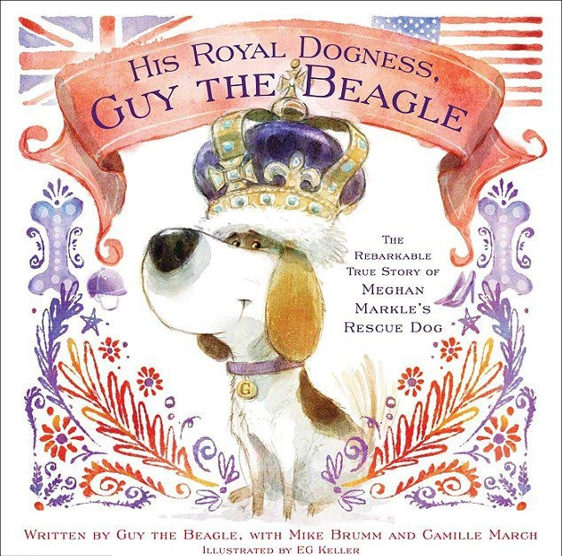 The children's book will tell Guy's tale from being a rescue to royal pup.