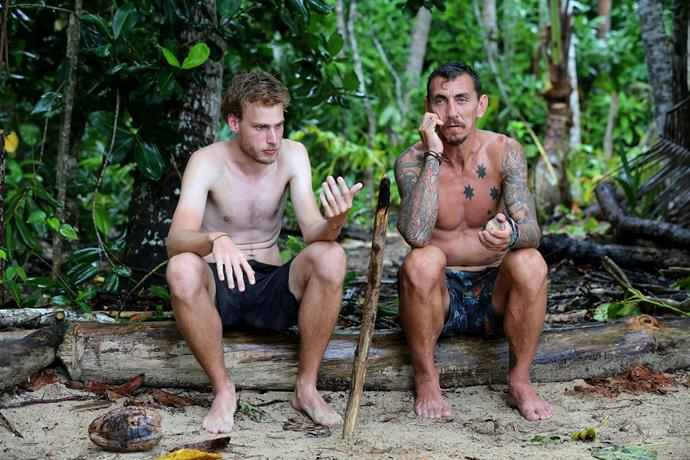 Sam and Mat have one of their final chats on *Australian Survivor.*