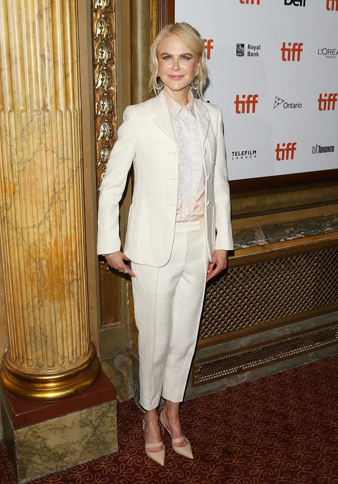 Nicole was in Toronto promoting her new film *Destroyer*.