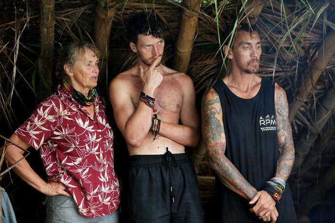 Shane with tribemates Benji and Mat.