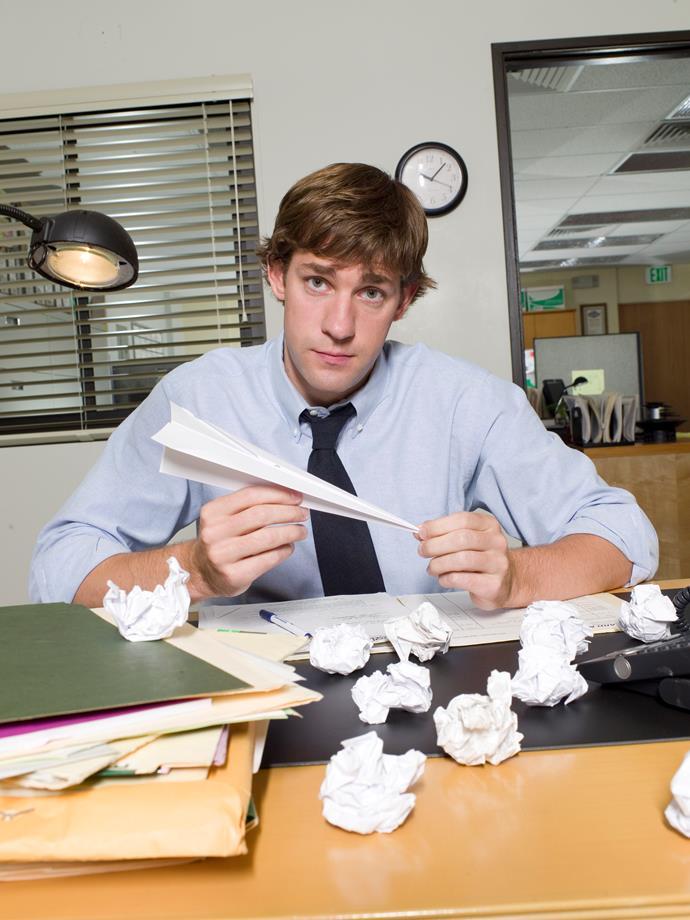 John as the loveable Jim Halpert in *The Office*.