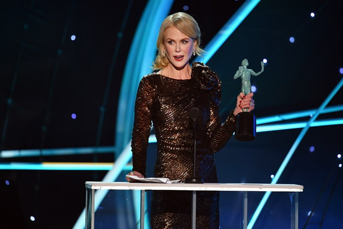 Nicole Kidman won a SAG in the Outstanding Performance by a Female Actor in a Television Movie or Limited Series category for her work in *Big Little Lies*.