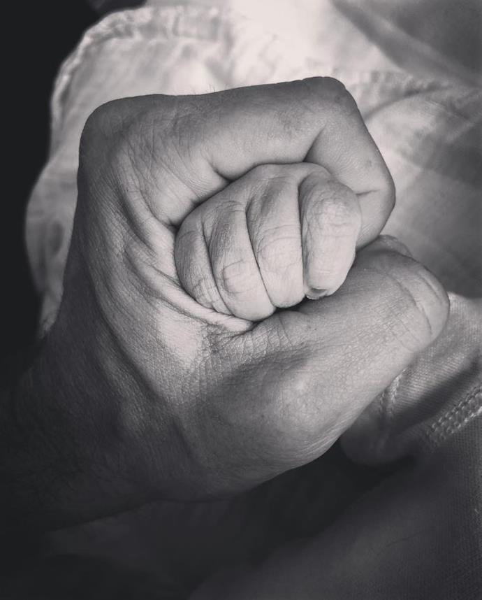 The proud parents took to Instagram to announce the arrival of their son.