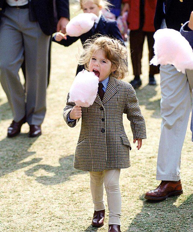 "Once you get over how absolutely adorable young Eugenie is, you can laugh at her caption: ""#tbt to really cool moments in life!!"" *Image: Instagram/[@princesseugenie](https://www.instagram.com/princesseugenie/