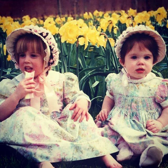 "The picture of cute! We love Eugenie's remark: ""Happy Easter from the York sisters! Celebrating Easter in a bonnet since 1992...🐣"" *Image: Instagram/[@princesseugenie](https://www.instagram.com/princesseugenie/