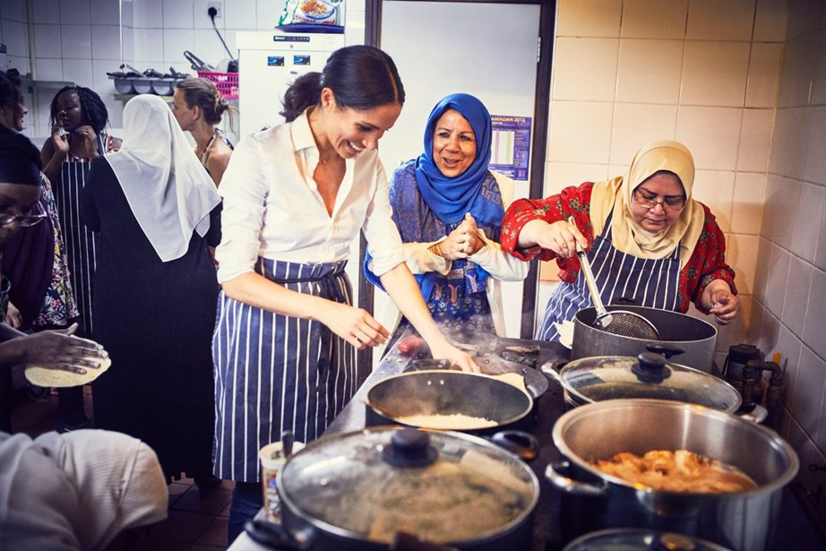 The Duchess has teamed up with women from the Grenfell Tower community to create a cookbook. *(Image: Twitter / @KensingtonRoyal)*
